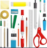 work-draw-sketch-stationary-set-vector-92940434